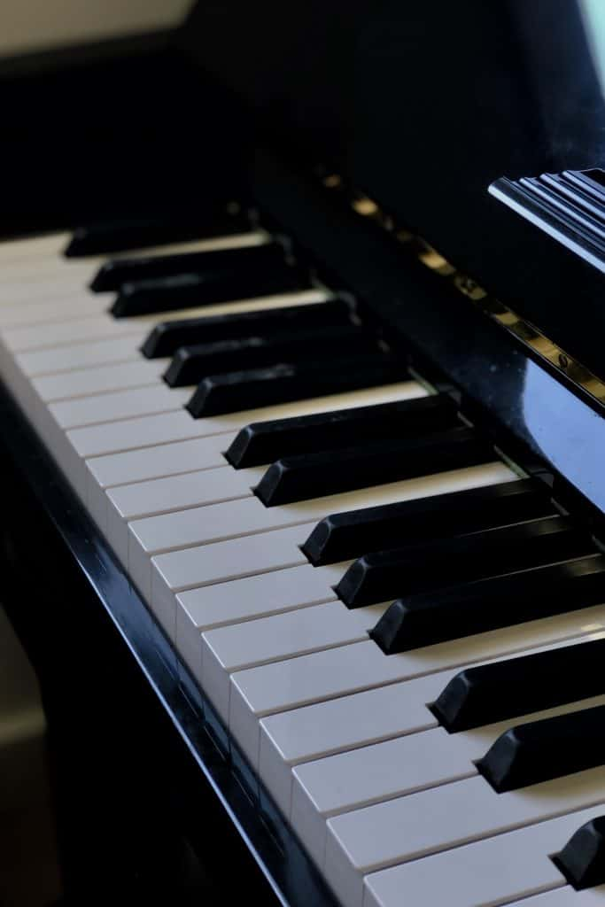 how long does it take to learn piano - piano keys pictured